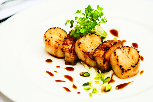 Scallop and Pork Belly