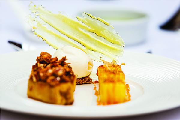 Caramalised Banana and Roast Pineapple
