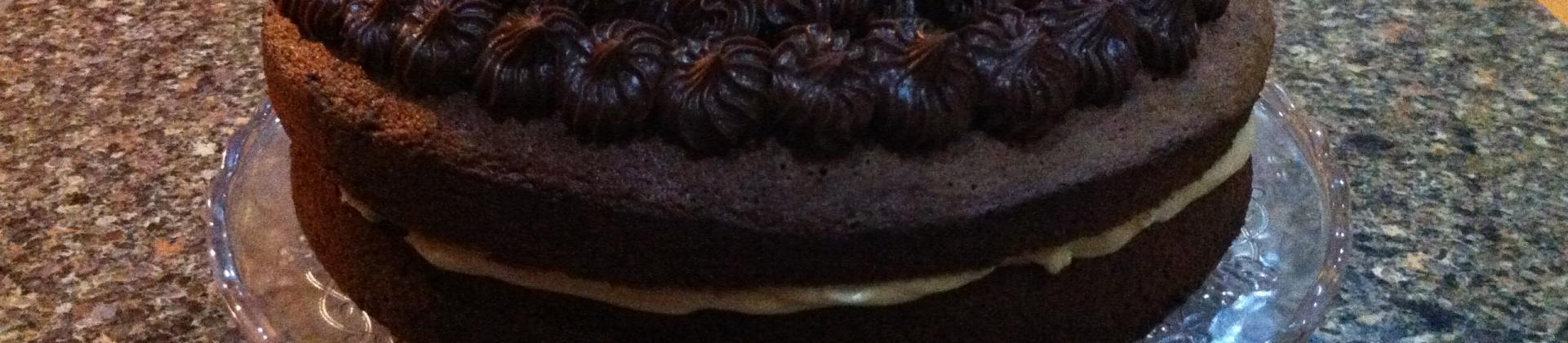 Salted Chocolate Chiffon Cake