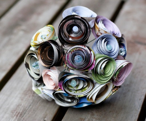 recycled-wedding-ideas-unique-bridal-bouquet